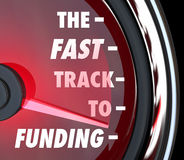 The Fast Track to Funding Speed Quick Funded Start Up Royalty Free Stock Photos