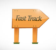 Fast track wood sign concept illustration Royalty Free Stock Photography