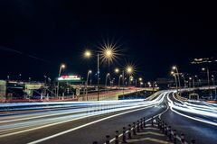 Fast Traffic Light Trails Royalty Free Stock Photo