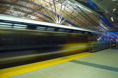 Fast train. stock images