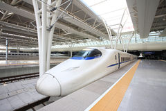 Fast train. With motion blur Stock Photography