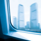 Fast train. With motion blur Royalty Free Stock Photo