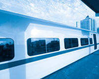 Fast train. With motion blur Royalty Free Stock Image