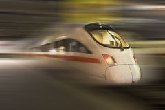 Fast train. Train with motion blur, ICE, Germany royalty free stock photo
