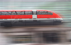 Fast train. Train with motion blur, Trans Rapid, Germany royalty free stock image
