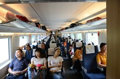 Fast train in China Stock Photo
