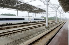 Fast train in China Royalty Free Stock Photos