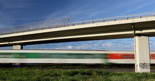 Fast train going really fast Stock Image