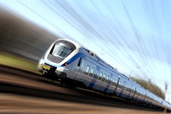 Free Fast Train In Motion Stock Images - 5216674