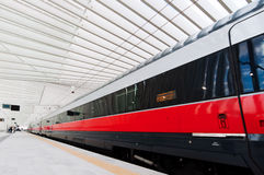 Fast train in Italy Royalty Free Stock Photography