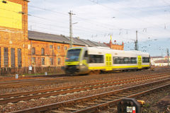 Fast Train. Modern Fast Train in Motion Stock Photography