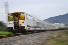 Fast Train. Modern Fast Train in Motion Royalty Free Stock Photo