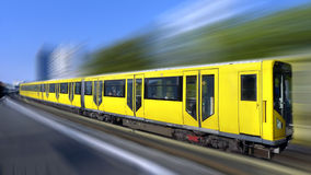 Fast train with motion blur. Photo of a Fast train with motion blur Stock Images