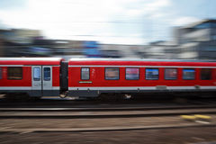 Fast train. In motion blur Royalty Free Stock Photography