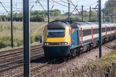 Fast train. Passenger Fast train in motion Stock Photography