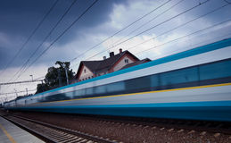 Fast train passing by Stock Images