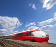 Fast train passing by. Motion blur Stock Photography