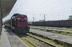 Fast train passing Royalty Free Stock Images