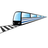 Fast train on the rails vector illustration Royalty Free Stock Photography