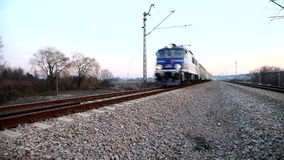 Really fast train stock footage