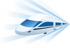 Fast train speeding in motion Royalty Free Stock Photo