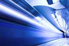 Fast train in subway Royalty Free Stock Photo