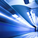 Fast train in subway Stock Image