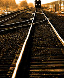Fast Train on tracks royalty free stock images