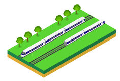 Fast Train. Vector isometric illustration of a Fast Train. Royalty Free Stock Photography