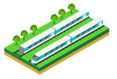 Fast Train. Vector isometric illustration of a Fast Train. Stock Images