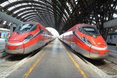 Fast trains - Frecciarossa Stock Photography
