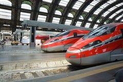Fast trains - Frecciarossa Stock Images