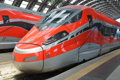 Fast trains - Frecciarossa Royalty Free Stock Photography