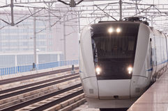 Fast trains in Guangzhou Royalty Free Stock Image