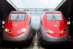 Fast trains Stock Photos