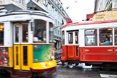Fast trams Royalty Free Stock Photos
