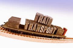 Fast Transport on Railway Royalty Free Stock Image