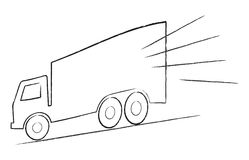 Fast truck. Illustration of fast truck on isolated background Stock Image