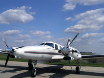 Fast Turboprop Aircraft Stock Image
