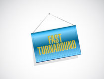 Fast turnaround banner sign illustration. Design over white Stock Images