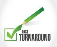 fast turnaround check mark sign Stock Photos