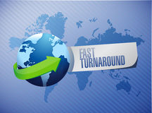 Fast turnaround globe sign illustration design Stock Photography