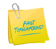 Fast turnaround memo post sign Stock Photography