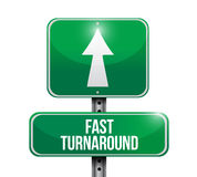 Fast turnaround road sign illustration Royalty Free Stock Photo