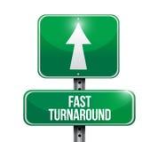Fast turnaround road sign illustration Royalty Free Stock Photo