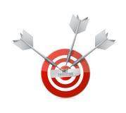 Fast turnaround target sign illustration Royalty Free Stock Photo
