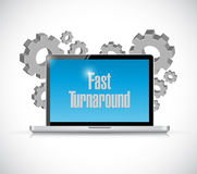 Fast turnaround technology sign. Illustration design over white Royalty Free Stock Photo