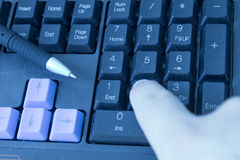 Fast typing Stock Photos