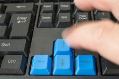 Fast typing Royalty Free Stock Image