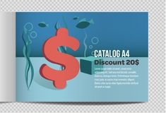 Fast vector catalog A4 sheet illustration promotion stock illustration